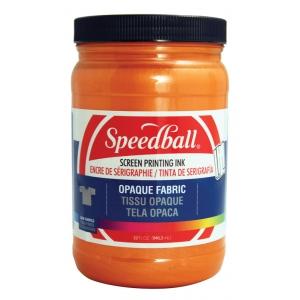 Speedball® Opaque Fabric Screen Printing Ink Sherbet: Orange, Jar, Fabric, 32 oz, Screen Printing, (model 4829), price per each