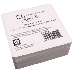 """Pigma® Micron® Zentangle® Apprentice™ 140-Piece Refill Tile Pack; Color: White/Ivory; Size: 4 1/2"""" x 4 1/2""""; Type: Tile; (model 50015), price per pack"""