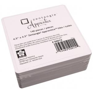 "Pigma® Micron® Zentangle® Apprentice™ 140-Piece Refill Tile Pack: White/Ivory, 4 1/2"" x 4 1/2"", Tile, (model 50015), price per pack"