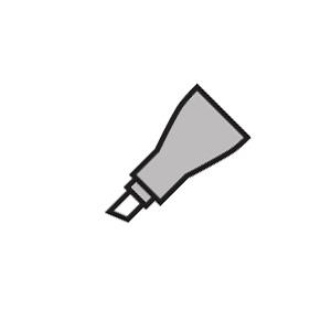 Copic® Original Semi Broad Replacement Nibs Marker; Replacement Nib: Yes; Tip Type: Broad Nib; (model SEMIBRDN), price per pack