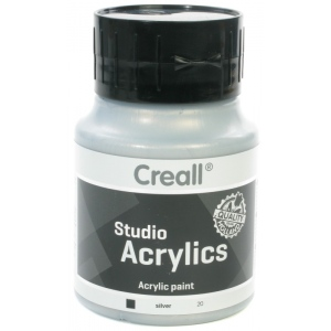 American Educational Creall Studio Acrylics: 500 ml, 20 Silver