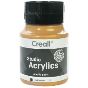 American Educational Creall Studio Acrylics: 500 ml, 23 Gold Antique