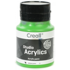 American Educational Creall Studio Acrylics: 500 ml, 50 Brilliant Green