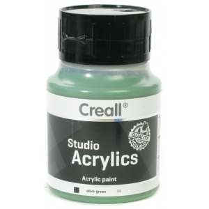 American Educational Creall Studio Acrylics: 500 ml, 59 Olive Green