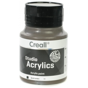 American Educational Creall Studio Acrylics: 500 ml, 69 Burnt Umber