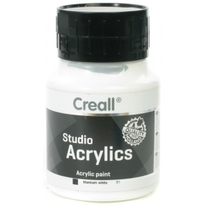 American Educational Creall Studio Acrylics: 500 ml, 81 White