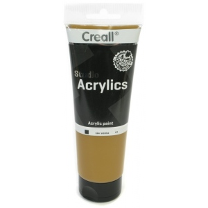 American Educational Creall Studio Acrylics Tube: 250 ml, 61 Raw Sienna