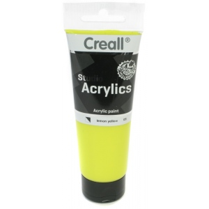 American Educational Creall Studio Acrylics Tube: 120 ml, 05 Lemon Yellow