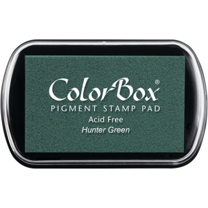 ColorBox® Full Size Pigment Ink Pad Hunter Green: Green, Pad, Pigment, Full Size Rectangle, (model CS15073), price per each