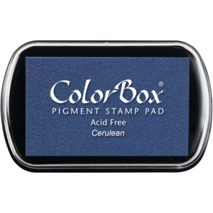 ColorBox® Full Size Pigment Ink Pad Cerulean : Blue, Pad, Pigment, Full Size Rectangle, (model CS15163), price per each