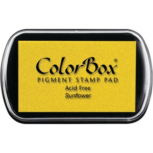 ColorBox® Full Size Pigment Ink Pad Sunflower; Color: Yellow; Format: Pad; Ink Type: Pigment; Shape: Full Size Rectangle; (model CS15170), price per each