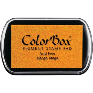 ColorBox® Full Size Pigment Ink Pad Mango Tango; Color: Orange; Format: Pad; Ink Type: Pigment; Shape: Full Size Rectangle; (model CS15189), price per each