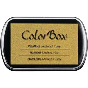 ColorBox® Full Size Pigment Ink Pad Curry; Color: Yellow; Format: Pad; Ink Type: Pigment; Shape: Full Size Rectangle; (model CS15202), price per each