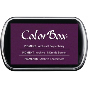 ColorBox® Full Size Pigment Ink Pad Boysenberry; Color: Purple; Format: Pad; Ink Type: Pigment; Shape: Full Size Rectangle; (model CS15203), price per each