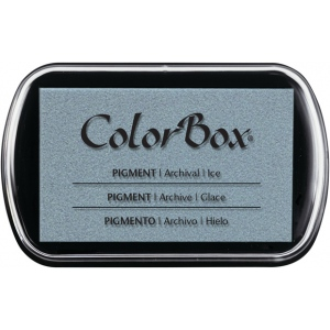 ColorBox® Full Size Pigment Ink Pad Ice; Color: Black/Gray; Format: Pad; Ink Type: Pigment; Shape: Full Size Rectangle; (model CS15204), price per each