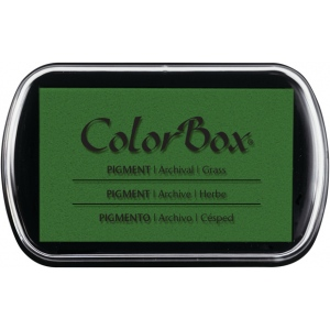 ColorBox® Full Size Pigment Ink Pad Grass; Color: Green; Format: Pad; Ink Type: Pigment; Shape: Full Size Rectangle; (model CS15206), price per each