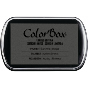 ColorBox® Full Size Pigment Ink Pad Pepper; Color: Black/Gray; Format: Pad; Ink Type: Pigment; Shape: Full Size Rectangle; (model CS15218), price per each
