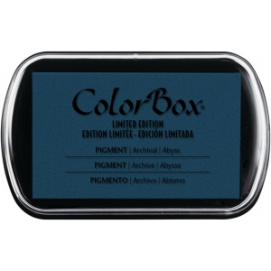 ColorBox® Full Size Pigment Ink Pad Abyss; Color: Black/Gray; Format: Pad; Ink Type: Pigment; Shape: Full Size Rectangle; (model CS15219), price per each