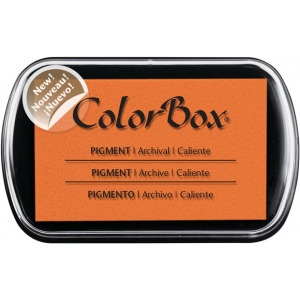 ColorBox® Full Size Pigment Ink Pad Caliente: Orange, Pad, Pigment, Full Size Rectangle, (model CS15224), price per each