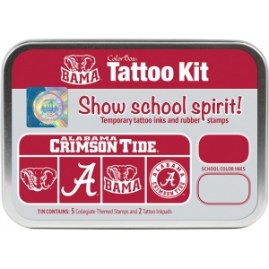ColorBox® University of Alabama Collegiate Tattoo Kit; Format: Tin; Type: Stamp; (model CS19605), price per set