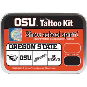 ColorBox® Oregon State University Collegiate Tattoo Kit; Format: Tin; Type: Stamp; (model CS19607), price per set
