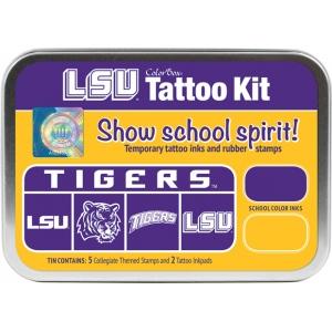 ColorBox® Louisiana State University Collegiate Tattoo Kit; Format: Tin; Type: Stamp; (model CS19610), price per set