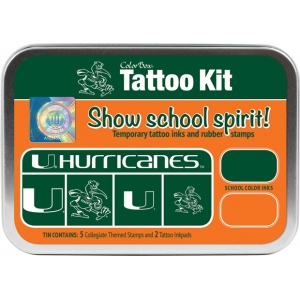 ColorBox® University of Miami Collegiate Tattoo Kit; Format: Tin; Type: Stamp; (model CS19611), price per set