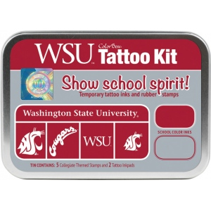 ColorBox® Washington State University Collegiate Tattoo Kit; Format: Tin; Type: Stamp; (model CS19612), price per set
