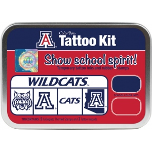 ColorBox® University of Arizona Collegiate Tattoo Kit: Tin, Stamp, (model CS19613), price per set
