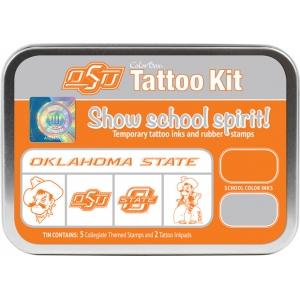 ColorBox® Oklahoma State University Collegiate Tattoo Kit: Tin, Stamp, (model CS19614), price per set