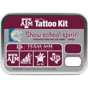 ColorBox® Texas A & M Collegiate Tattoo Kit; Format: Tin; Type: Stamp; (model CS19616), price per set