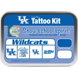 ColorBox® University of Kentucky Collegiate Tattoo Kit; Format: Tin; Type: Stamp; (model CS19619), price per set