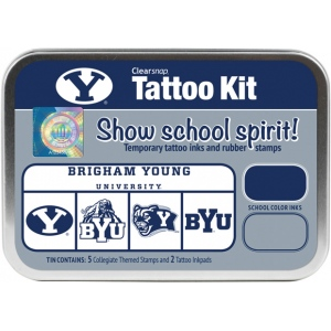 ColorBox® Brigham Young University Collegiate Tattoo Kit; Format: Tin; Type: Stamp; (model CS19621), price per set