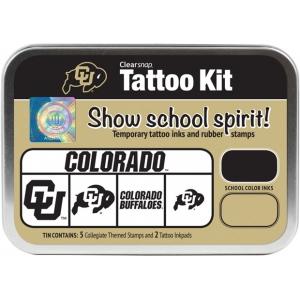 ColorBox® University of Colorado Collegiate Tattoo Kit: Tin, Stamp, (model CS19623), price per set