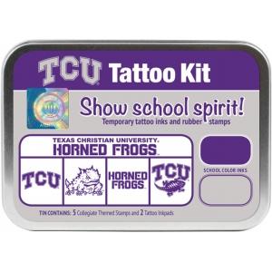 ColorBox® Texas Christian University Collegiate Tattoo Kit; Format: Tin; Type: Stamp; (model CS19625), price per set