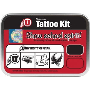 ColorBox® University of Utah Collegiate Tattoo Kit; Format: Tin; Type: Stamp; (model CS19626), price per set