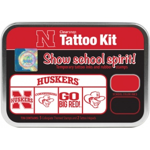 ColorBox® University of Nebraska Collegiate Tattoo Kit; Format: Tin; Type: Stamp; (model CS19629), price per set
