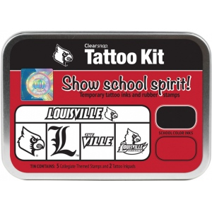ColorBox® University of Louisville Collegiate Tattoo Kit; Format: Tin; Type: Stamp; (model CS19630), price per set