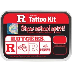 ColorBox® Rutgers University Collegiate Tattoo Kit: Tin, Stamp, (model CS19638), price per set