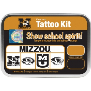 ColorBox® University of Missouri Collegiate Tattoo Kit; Format: Tin; Type: Stamp; (model CS19640), price per set