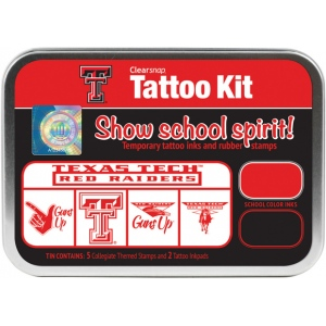 ColorBox® Texas Tech University Collegiate Tattoo Kit : Tin, Stamp, (model CS19641), price per set