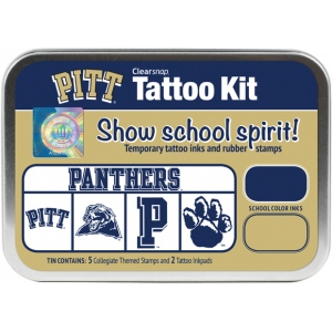 ColorBox® University of Pittsburgh Collegiate Tattoo Kit: Tin, Stamp, (model CS19645), price per set