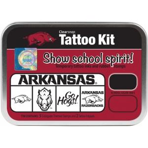 ColorBox® University of Arkansas Collegiate Tattoo Kit: Tin, Stamp, (model CS19647), price per set