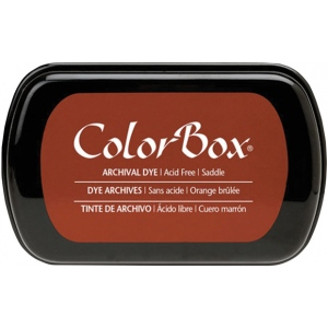 ColorBox® Full Size Archival Dye Ink Pad Saddle: Red/Pink, Pad, Dye-Based, Full Size Rectangle, (model CS27040), price per each
