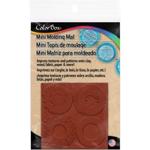 "ColorBox® Molding Mats Circles Background 2"" x 2"": Rubber, 2"" x 2"", Molding Mat, (model CS69426), price per each"