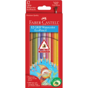 Faber-Castell® GRIP 12 Watercolor EcoPencils: Pencil, Watercolor, (model FC9121212), price per set