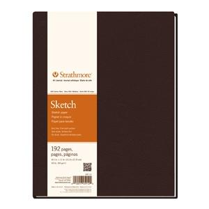 "Strathmore® 400 Series 5.5 x 8.5 Hardbound Sketch Book: White/Ivory, Book, 192 Sheets, 5 1/2"" x 8 1/2"", Hardbound Sketch, 60 lb, (model ST297-09), price per each"