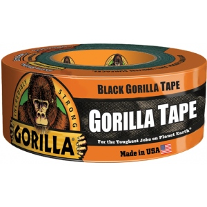 "Gorilla Glue® 1.88"" x 12 yds. Tape; Color: Black/Gray; Format: Roll; Size: 1.88"" x 12 yd; Type: Utility; Width: 1.88""; (model G60012), price per each"