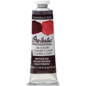 Grumbacher® Pre-Tested® Artists' Oil Color Paint 37ml Perylene Red; Color: Red/Pink; Format: Tube; Size: 37 ml; Type: Oil; (model GBP315GB), price per tube