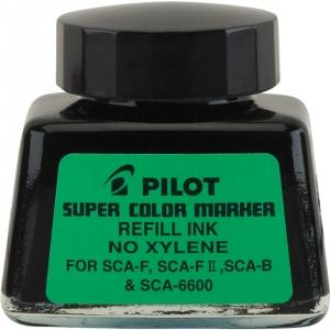 Pilot®  Super Color Black Refill Ink (Xylene-Free): Black/Gray, Bottle, Refill, Refill, (model 48500), price per each